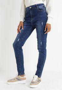 Born2be - Niebieskie Jeansy Slim Klelodia. Stan: podwyższony. Kolekcja: plus size. Kolor: niebieski. Długość: długie #1