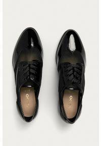 Aldo - Półbuty Kedaema. Nosek buta: okrągły. Kolor: czarny. Materiał: guma