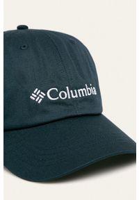 columbia - Columbia - Czapka. Kolor: niebieski. Materiał: włókno, syntetyk. Wzór: jednolity, ze splotem