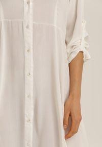 Biała sukienka koszulowa Renee