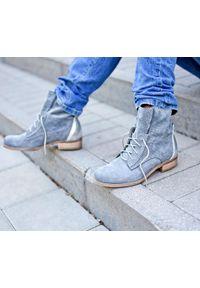 Szare botki Zapato wąskie