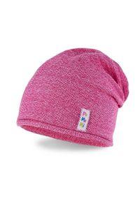 Wiosenna czapka dziewczęca PaMaMi - Ciemny róż. Kolor: różowy. Materiał: bawełna, elastan. Sezon: wiosna