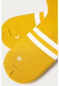 Żółte skarpetki Jordan z nadrukiem