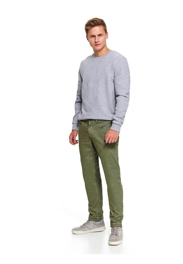Zielone spodnie TOP SECRET na zimę, sportowe