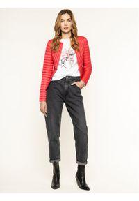 Różowa kurtka puchowa Trussardi Jeans
