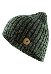 Brązowa czapka zimowa outhorn melanż