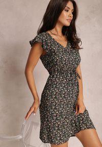Renee - Czarna Sukienka Ruve. Kolor: czarny