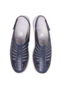 Niebieskie sandały Rieker casualowe, na co dzień