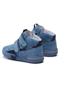 Bartek - Trzewiki BARTEK - 91756-002 Niebieski. Kolor: niebieski. Materiał: skóra, zamsz. Szerokość cholewki: normalna. Sezon: zima