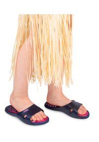 LANO - Klapki dziecięce basenowe Lano KL-2-3060-M4 Granatowe. Okazja: na plażę. Kolor: niebieski. Materiał: guma