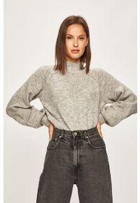 Szary sweter Pepe Jeans raglanowy rękaw, casualowy, na co dzień