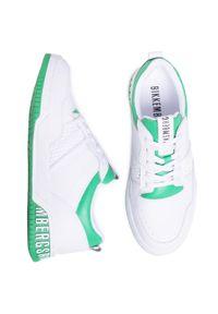 Białe sneakersy Bikkembergs z cholewką