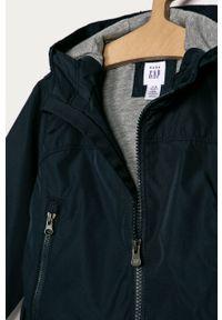 Niebieska kurtka GAP z kapturem, na co dzień, casualowa, gładkie