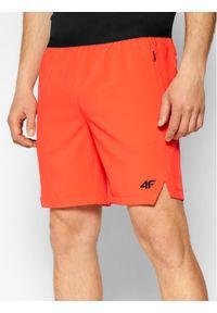 4f - 4F Szorty sportowe H4L21-SKMF014 Czerwony Regular Fit. Kolor: czerwony