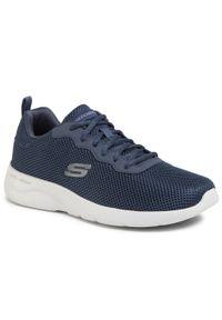 Niebieskie buty treningowe skechers z cholewką