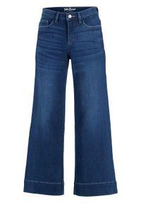 Dżinsy ze stretchem culotte, bardzo miękki materiał bonprix niebieski. Kolor: niebieski