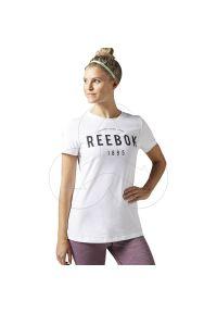 T-shirt Reebok z aplikacjami, z klasycznym kołnierzykiem, klasyczny