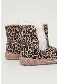 Różowe buty zimowe Primigi na zamek, na zimę, z cholewką