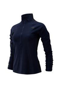 Bluza sportowa New Balance z długim rękawem, na jesień, ze stojącym kołnierzykiem