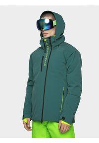 4f - Kurtka narciarska męska HQ Performance. Kolor: morski. Materiał: tkanina, neopren, mesh. Technologia: Dermizax. Sezon: zima. Sport: narciarstwo
