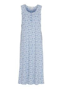 Cellbes Długa koszula nocna we wzory female ze wzorem 50/52. Materiał: bawełna. Długość: długie
