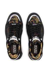 Versace Jeans Couture - Sneakersy VERSACE JEANS COUTURE - E0YWASF9 71970 M27. Kolor: czarny. Materiał: skóra, materiał. Szerokość cholewki: normalna. Styl: klasyczny