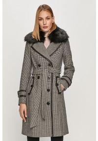 Czarny płaszcz Morgan na co dzień, klasyczny
