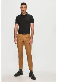 Czarna koszulka polo Trussardi Jeans krótka, gładkie, polo