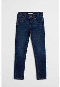 Morskie jeansy Mango Kids casualowe, na co dzień