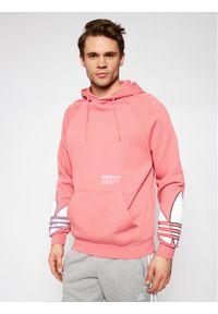 Adidas - adidas Bluza adicolor Tricolor Trefoil GN3572 Różowy Loose Fit. Kolor: różowy