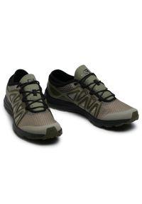 Zielone buty treningowe salomon z cholewką