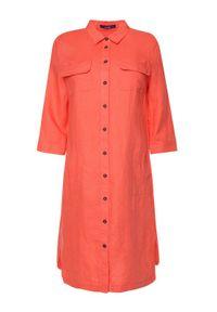 Różowa sukienka koszulowa Laurèl