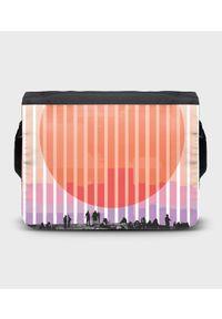 MegaKoszulki - Torba na ramię duża Sunset. Wzór: paski, nadruk
