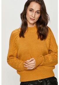 Żółty sweter Answear Lab wakacyjny, długi, z długim rękawem #6