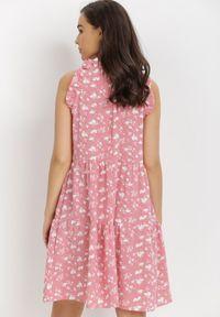 Born2be - Różowa Sukienka Diara. Kolor: różowy