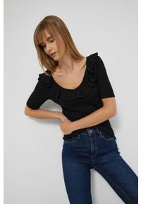 medicine - Medicine - T-shirt Basic. Okazja: na co dzień. Kolor: czarny. Materiał: dzianina. Styl: casual