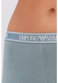 Emporio Armani Underwear - Legginsy. Kolor: zielony. Materiał: dzianina, materiał. Wzór: nadruk