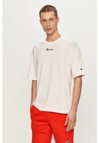 Champion - T-shirt. Okazja: na co dzień. Kolor: biały. Wzór: nadruk. Styl: casual