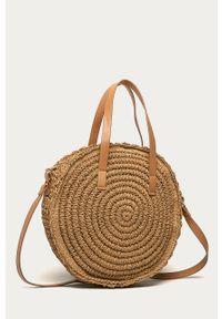 Beżowa torba plażowa ANSWEAR wakacyjna, mała, na ramię