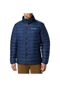 Niebieska kurtka turystyczna columbia plus size