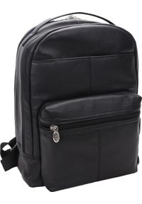 Czarny plecak na laptopa MCKLEIN