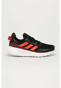 Czarne buty sportowe Adidas do biegania, na sznurówki