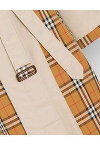Burberry - BURBERRY - Trencz Vintage Check. Kolor: brązowy. Materiał: materiał. Styl: vintage #6