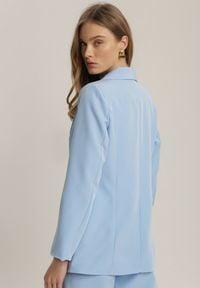 Renee - Jasnoniebieska Marynarka Kaliphethe. Kolor: niebieski. Długość rękawa: długi rękaw. Długość: długie. Styl: elegancki