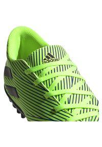 Adidas - Buty piłkarskie adidas Nemeziz Messi 19.4 TF FV3317. Zapięcie: sznurówki. Materiał: guma, syntetyk, materiał. Szerokość cholewki: normalna. Sport: piłka nożna
