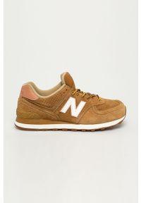 Sneakersy New Balance z cholewką, z okrągłym noskiem
