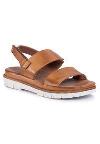 Brązowe sandały Salamander casualowe, na co dzień