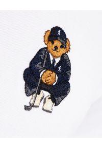 Ralph Lauren - RALPH LAUREN - Biała koszulka Custom Slim Fit. Typ kołnierza: polo. Kolor: biały. Materiał: bawełna, prążkowany. Wzór: haft #6