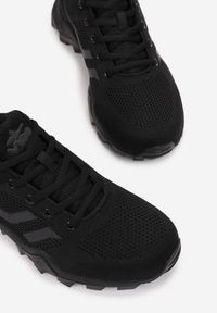 Born2be - Czarne Buty Sportowe Orphertes. Wysokość cholewki: przed kostkę. Nosek buta: okrągły. Kolor: czarny. Materiał: dresówka, materiał. Szerokość cholewki: normalna. Wzór: aplikacja