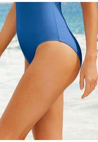 Kostium kąpielowy shape Level 1 bonprix zielono-niebieski. Kolor: niebieski